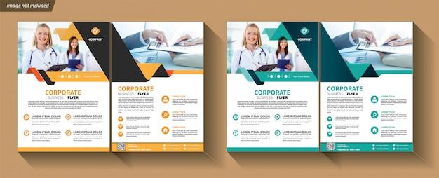 Modelo de folheto para brochura de capa corporativa
