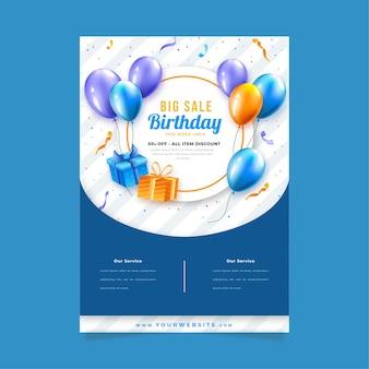 Modelo de folheto para festa de aniversário