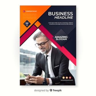 Modelo de folheto para negócios com foto