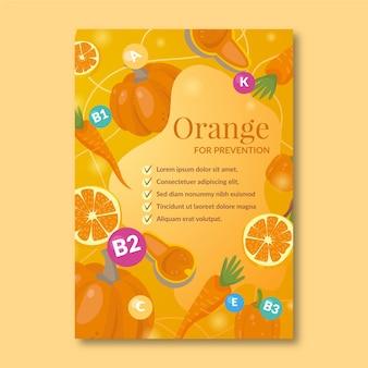 Modelo de folheto para promoção de comida saudável