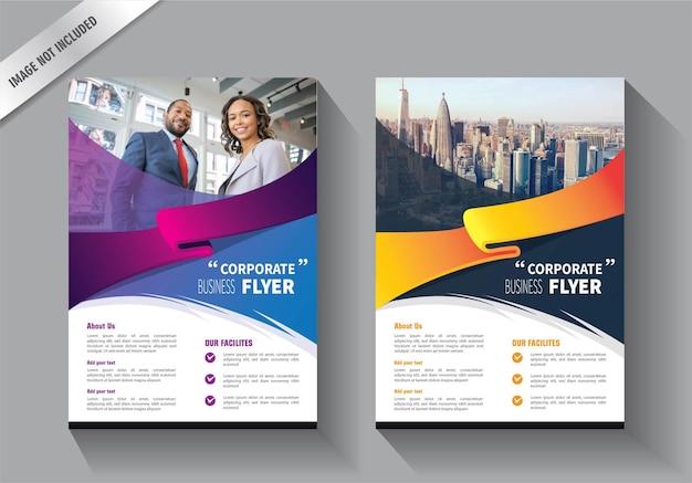 Modelo de folheto para relatório anual