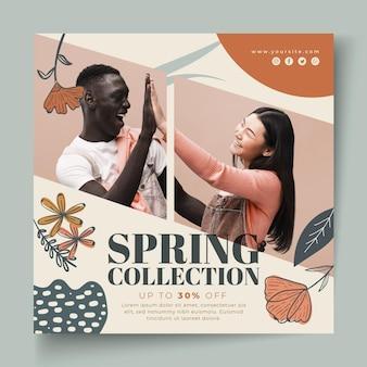 Modelo de folheto para venda de moda primavera