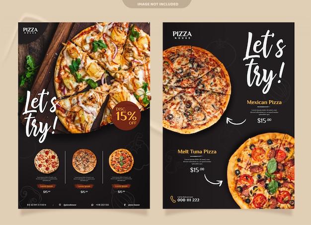 Modelo de folheto - pizza