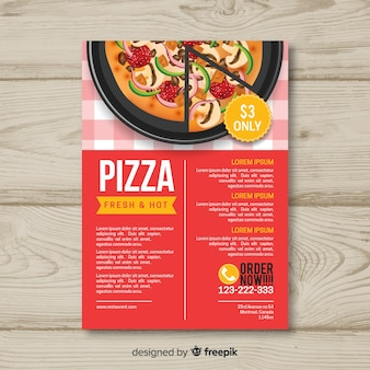 Modelo de folheto pizza