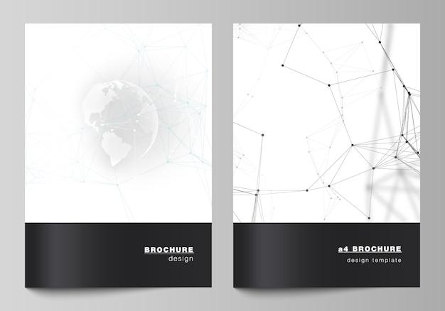 Modelo de folheto preto e branco