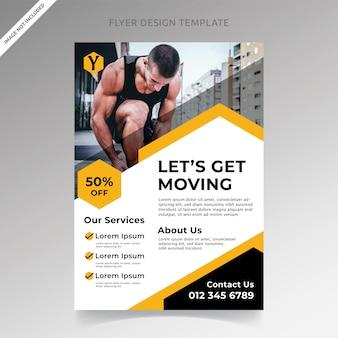 Modelo de folheto - profissional de fitness center