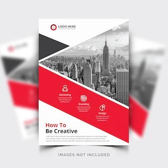 Modelo de folheto profissional de negócios