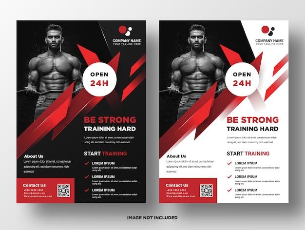 Modelo de folheto - promoção de fitness de academia