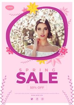 Modelo de folheto promocional primavera venda