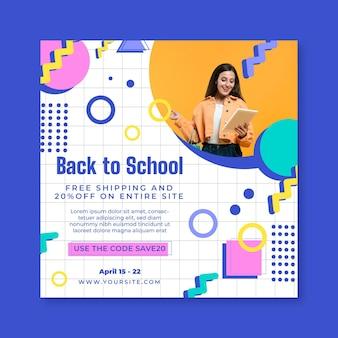 Modelo de folheto quadrado de compras online