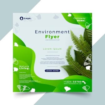 Modelo de folheto quadrado de meio ambiente