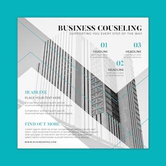 Modelo de folheto quadrado de negócios em geral