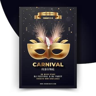 Modelo de folheto realista carnaval brasileiro