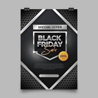 Modelo de folheto realista de sexta-feira negra
