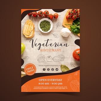 Modelo de folheto - restaurante de comida saudável