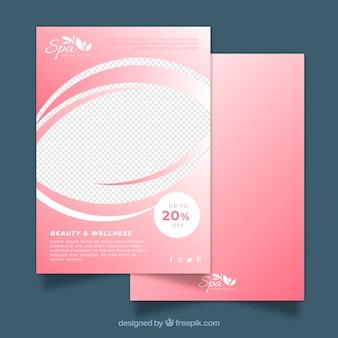 Modelo de folheto rosa spa