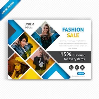 Modelo de folheto - venda de moda horizontal