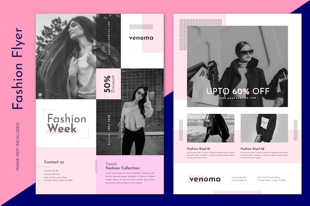 Modelo de folheto - venda de moda