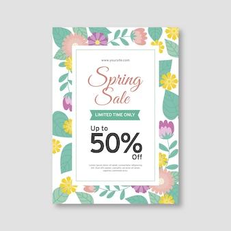Modelo de folheto - venda de primavera plana