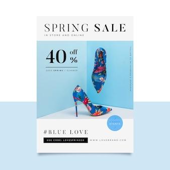 Modelo de folheto - venda de primavera
