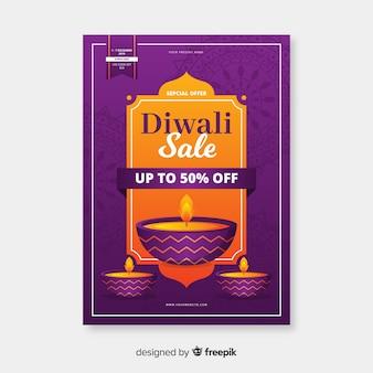 Modelo de folheto - venda plana de diwali