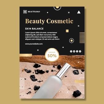 Modelo de folheto vertical cosmético de beleza