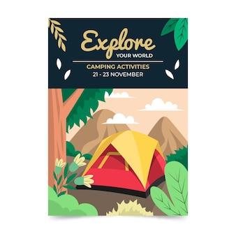 Modelo de folheto vertical de aventura