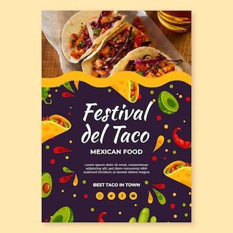 Modelo de folheto vertical de comida mexicana