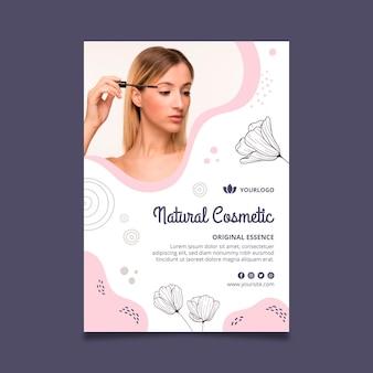 Modelo de folheto vertical de cosméticos faciais de beleza