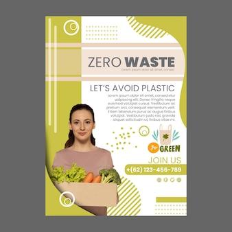 Modelo de folheto vertical de desperdício zero