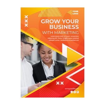 Modelo de folheto vertical de negócios de marketing