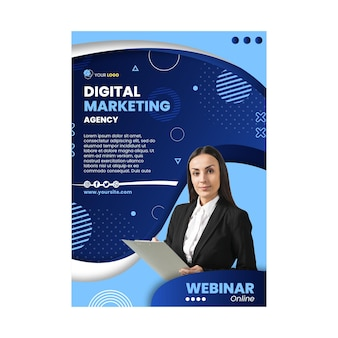 Modelo de folheto vertical de negócios de marketing Vetor grátis