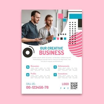Modelo de folheto vertical de negócios em geral