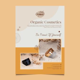 Modelo de folheto vertical de produtos cosméticos
