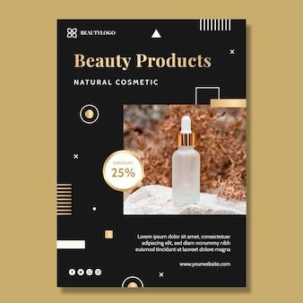 Modelo de folheto vertical de produtos de beleza
