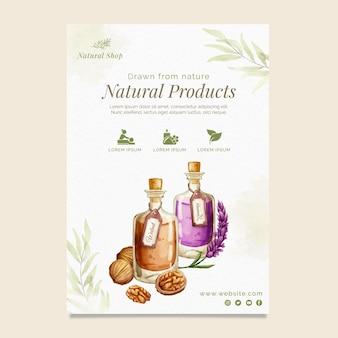 Modelo de folheto vertical de produtos naturais