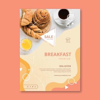 Modelo de folheto vertical de restaurante de café da manhã Vetor grátis