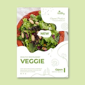 Modelo de folheto vertical de restaurante saudável