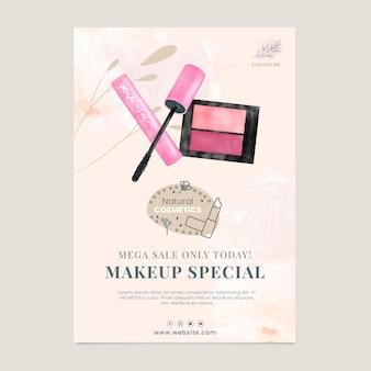 Modelo de folheto vertical de venda de cosméticos
