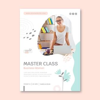 Modelo de folheto vertical empresária