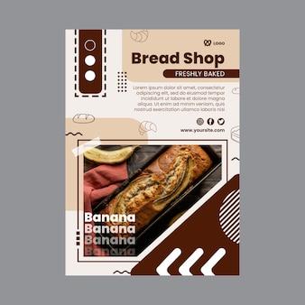 Modelo de folheto vertical para padaria