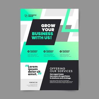 Modelo de folheto vertical plano de negócios
