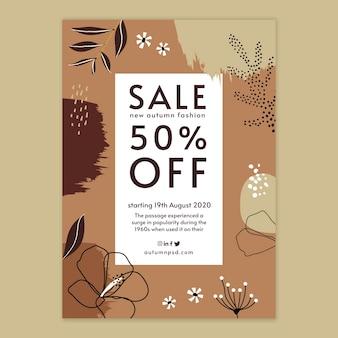 Modelo de folheto vertical venda outono