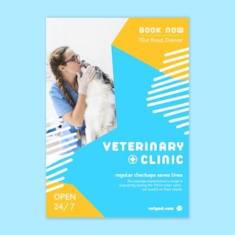 Modelo de folheto vertical veterinário