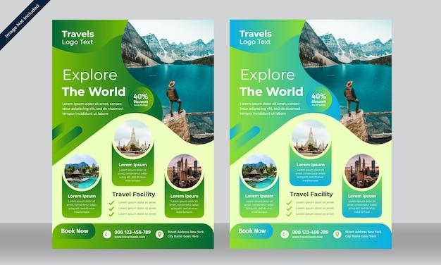 Modelo de folheto - viagens