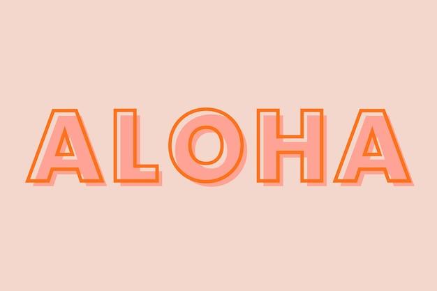 Modelo de fonte de tipografia aloha