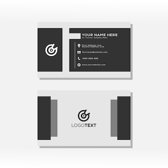 Modelo de forma básica geométrica de cartão de visita