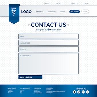 Modelo de formulário de contacto web