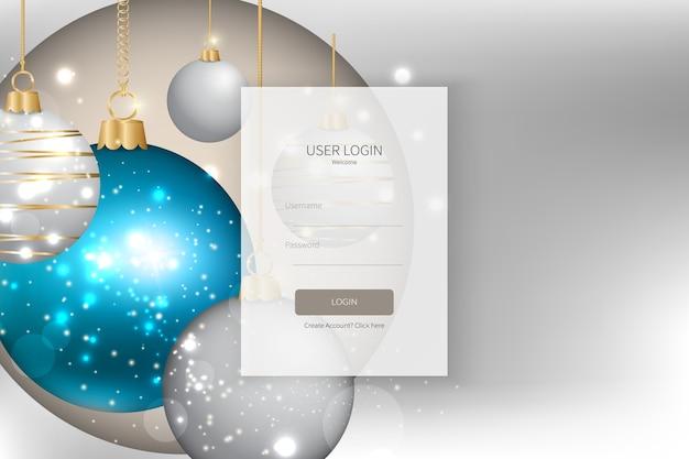 Modelo de formulário de inscrição ou login na página de destino