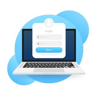 Modelo de formulário de login
